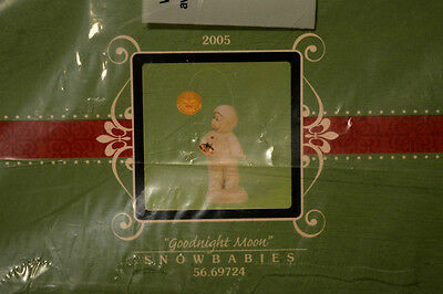 "Department 56 Snowbabies ""GOODNIGHT MOON"".  MIB Figurine 2005 COLLECTIBLE NEW"