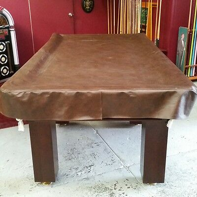 Eddie Charlton Heavy Duty FITTED Pool Snooker Billiards TABLE COVER - 7' - BROWN