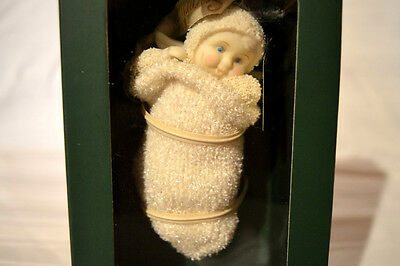 "Department 56 Snowbabies ""A BABY IN MY STOCKING"" NIB Figurine/ORNAMENT CHRISTMAS"
