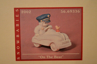 "Department 56 Snowbabies ""ON THE BEAT "". NIB Figurine 2002 LETS PRETEND"