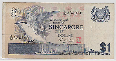 (EP48) 1976 Singapore $1 Bank note