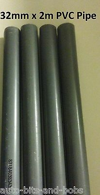 32mm x 2M PVC Hard Rigid Pipe Marine Tropical Aquarium Fish Reef Safe Pipework
