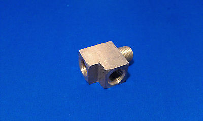 Solid Brass Street Pipe Tee 1/8 Inch Male Two 1/8 Female NPT Air Fuel Water