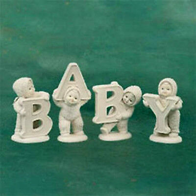 "DEPARTMENT 56 Snowbabies ""AND THAT SPELLS BABY"" MIB 1998 FIGURINE COLLECTIBLE"