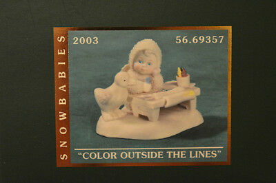 "DEPT 56 Snowbabies ""COLOR OUTSIDE THE LINES"" NIB 2003 FIGURINE COLLECTIBLE RARE"