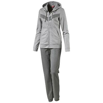 Puma Damen Trainingsanzug - Fun Sweat Suit Closed - Grau Vers. Größen Neu