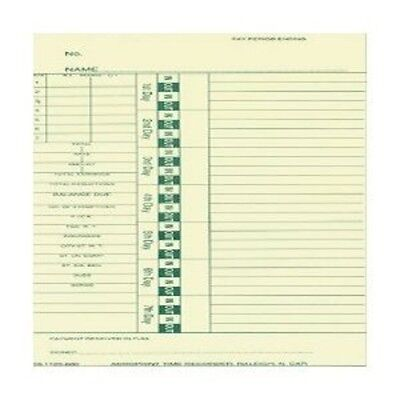 Acroprint Weekly Time Cards, Box of 1000 cards 09-1123-000 Attendence Time Card