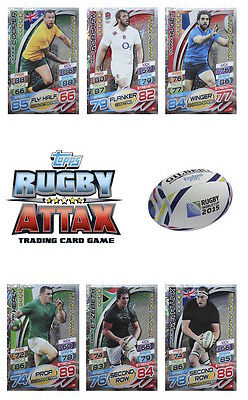 Topps Rugby Attax England 2015 Trading Cards. Star Player Cards
