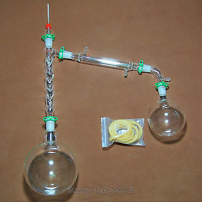 2000ml,24/40,Glass Vacuum Distillation Apparatus,With Vigreux Distillation Head
