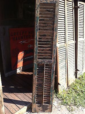 Vtg  1800's Old  Wooden Window Shutter Architectural Salvage primitive