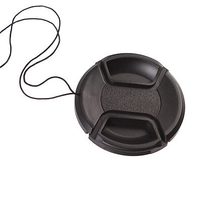 67mm Center-Pinch Snap-On Front Lens Cap Hood Cover With String For Camera Canon