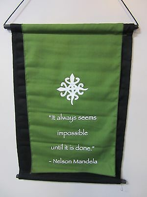 Mini Green Inspirational Mandela Affirmation Wall Hanger Scroll