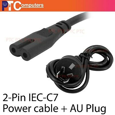 2 Pin Core Figure 8 IEC-C7 AC Power Cord Cable Lead Plug AU
