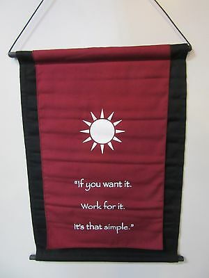 Mini Burgundy Inspirational Sun Mandela Affirmation Wall Hanger Scroll