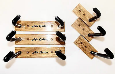 Oak Electric & Acoustic Guitar Wall Mount Display - Horizontal Bracket