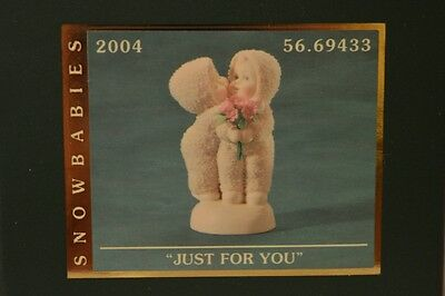 "DEPARTMENT 56 Snowbabies ""JUST FOR YOU"" NIB 2004 FIGURINE VALENTINE LOVE RARE!"