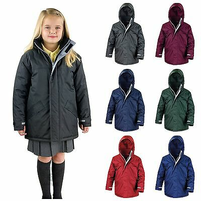Childrens Waterproof School Coat Jacket Parka Warm Boys Girls Kids Winter
