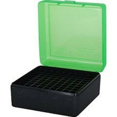 MTM Ammo Box Medium Rifle 100 Round Black and Green Fits 243 308 3030 RM 100 16T
