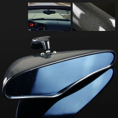 JDM Sport REAL Carbon Fiber Blue Tinted Rear View Mirror For 06-11 Civic FG2/FD2