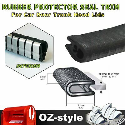 3M Pinch weld Rubber Seal Edging Protector Trim Car Door Boot Metal Chip Strip