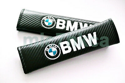 Carbon Fibre Fiber Effect seat belt shoulder pads for BMW. M3 X5i 325 X3 320 Z5
