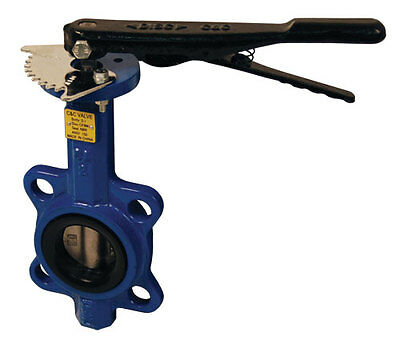 """4"""" Butterfly Valve Wafer Style with Stainless Steel Disc & BUNA-N Seals - DIXON"""
