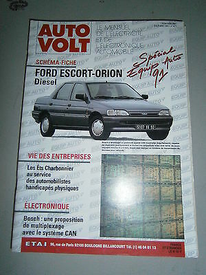Auto volt revue technique auto eléctricité RTA Ford escord orion diesel