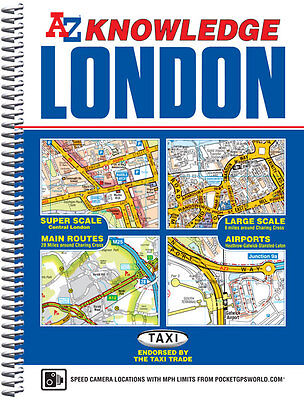London Knowledge Atlas by Geographers' A-Z Map Company (Spiral bound, 2014)