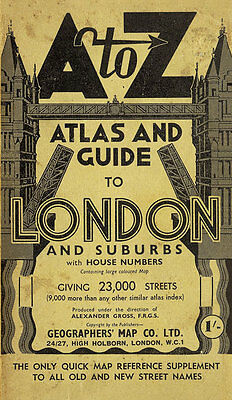 London Street Atlas - Historical Edition by A-Z Map Company (Paperback, 1938)