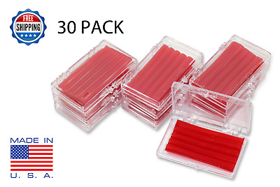 30 Pack Orthodontic WAX For BRACES Irritation RED CHERRY SCENTED Dental Relief