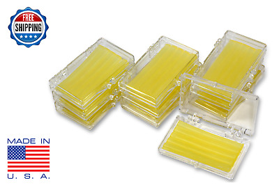 10 Pack Orthodontic WAX   BRACES Irritation YELLOW LEMON SCENTED Dental Relief