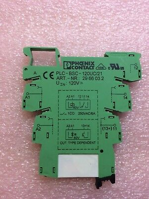 PHOENIX Contact 5603157 Relay 120VAC Plug-In PLC (1 Unit)