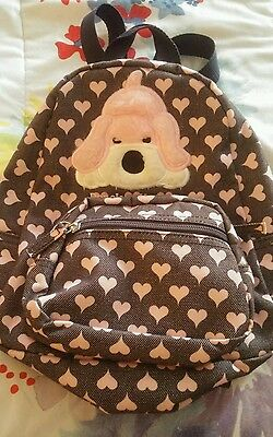 Fao Schwarz Penelope the Pup toddler backpack with pink hearts