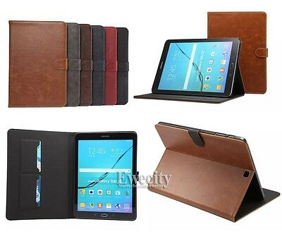 Folio Wallet Stand Smart Leather Case Cover For Samsung Galaxy Tab S2/S3 8.0/9.7