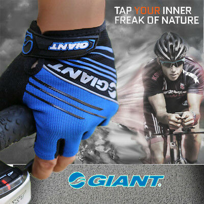 2017 New Genuine Giant Cycling Bicycle Bike Half Finger Antiskid gloves MTB Gel