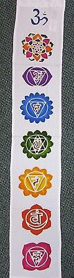 Medium Batik Chakra White Wall Hanging Metaphysical Banner