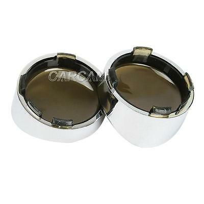 Chrome Visor-style Turn Signal Bezels w/smoke lens For Harley Davidson New