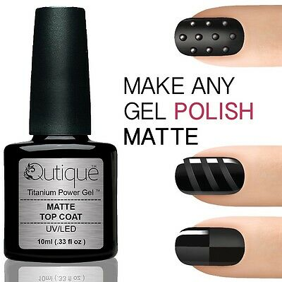 QUTIQUE Gel Nail Polish Pack/Set/Kit MATTE TOP COAT -LED/UV Professional Salon