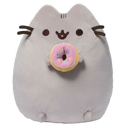 """NEW OFFICIAL GUND Pusheen with Donut 9"""" Plush Soft Toy 4048871"""