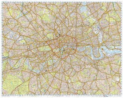 London Knowledge Map by A-Z Maps MARCH 2017 (ENLARGED GLOSS LAMINATED WALL MAP)