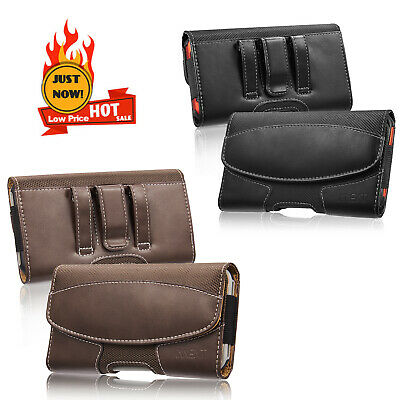 Luxmo Belt Clip Horizontal Pouch Leather Holster Case For Apple iPhone 6 Plus