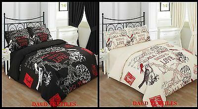 Luxury & Stylish 3Pcs Charlotte Poly-Cotton Duvet Set In Double,king,s-King Bed