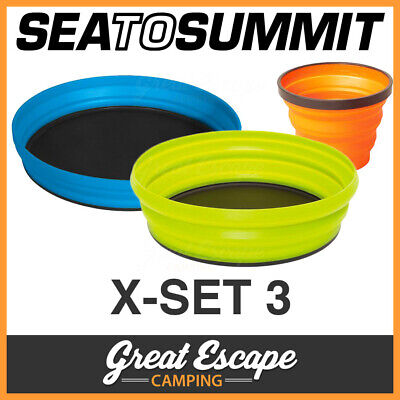 Sea To Summit X-Set 3 Full Set Mug, Bowl, Plate and Pouch