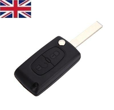 Fits to Peugeot 207 307 SW 308 407 2 Button FOB Remote Key CASE Uncut Blade HU83