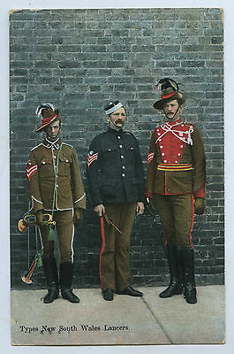 C1905 Pt Pu Postcard Types Of New South Wales Lancers W12