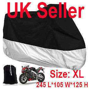 Motorcycle Waterproof Outdoor Vented Motor Bike Scooter Dust Rain Cover Large XL