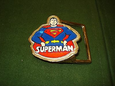 Vintage 1973 Superman Belt Buckle, Licensed By National Periodical Publications