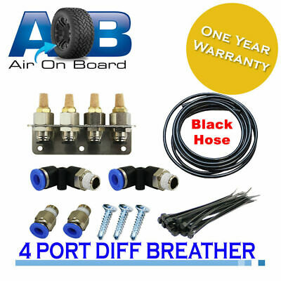 Diff Breather Kit 101-4 point- fits Toyota Landcruiser 75 80 100 200 Hilux Kun