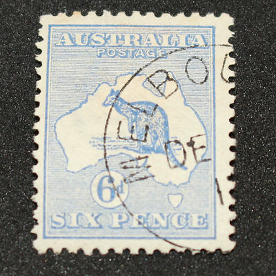 1913 6 Pence 6d Blue Kangaroo (17wb) - Cancelled To Order - Hinged
