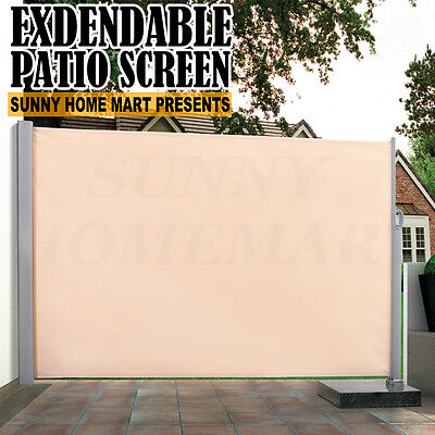 New HEAVY DUTY Patio Screen Awning Retractable Fence Expandable up to 3m Long